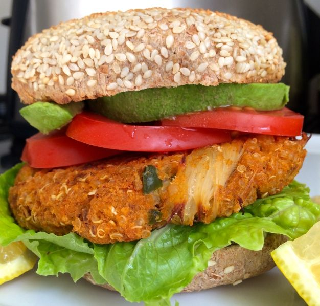 baked quinoa crabcake burgers | Whole Soul of Food | Pinterest