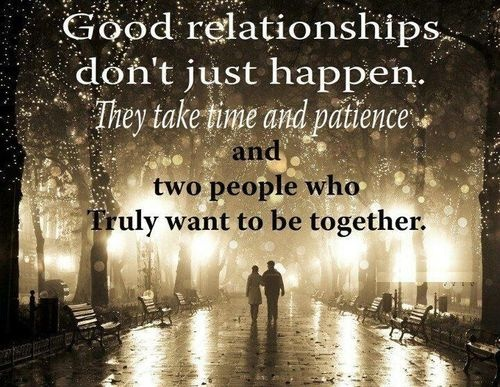good relationships...