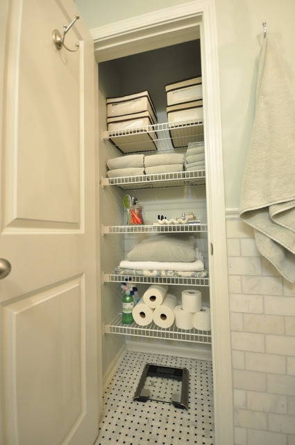 bathroom closet organization pinterest