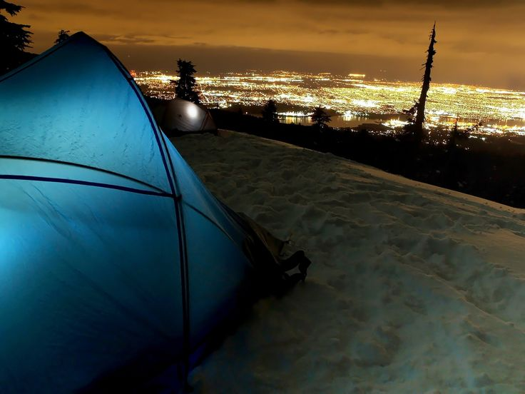 Winter camp, overlooking Vancouver, Canada.
