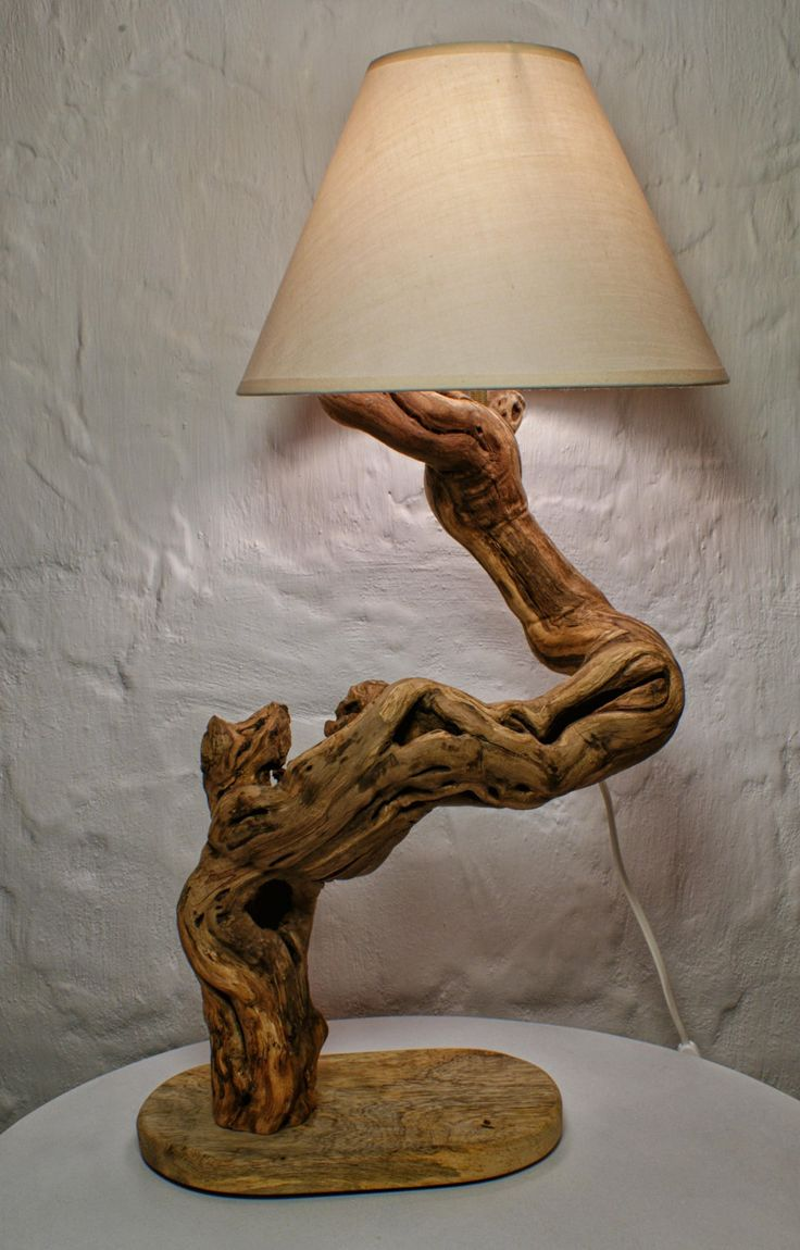 Driftwood Lamp Sculpture Natural Design