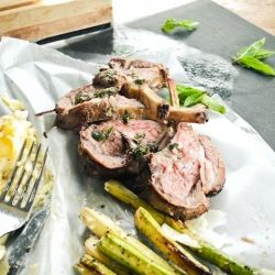 Roasted Rack of Lamb with Mint Salsa Verde is a hands-on experience