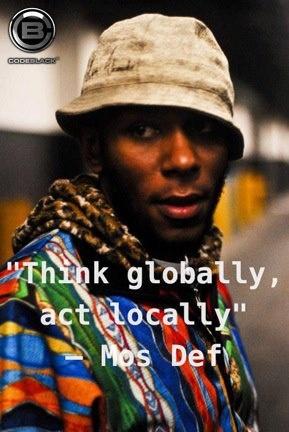 think globally act locally essay