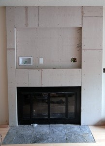 Fireplace Cement Board Complete Fireplace Pinterest