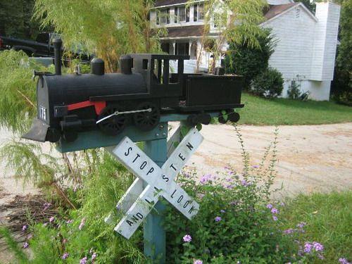 train engine mailbox pinterest