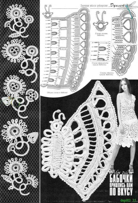 Irish Crochet Lace Shawl Pattern : Irish Lace Floral Crochet Patterns Book Doily Coat Shawl ...