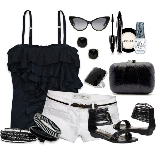 Simply Black, created by missyfer88 on Polyvore
