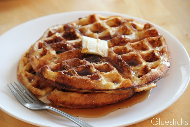 Light, crispy, melt in your mouth waffles. Seriously the BEST. Just ...