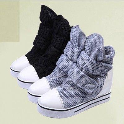 Flat Platform Belted Velcro Women's Shoes Sneakers