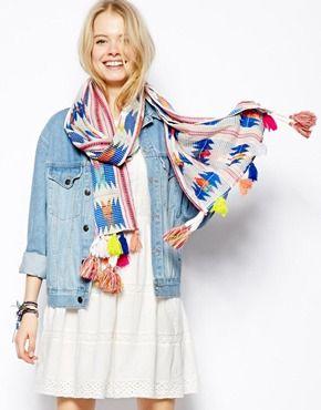 Tassel scarf.