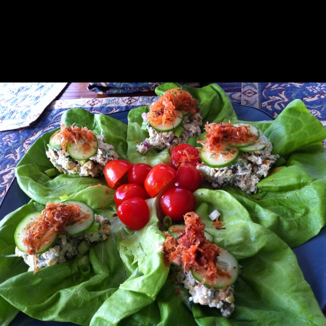 Tu-no salad on butter lettuce leaves! | Ⓥ Wraps and Sandwiches ...