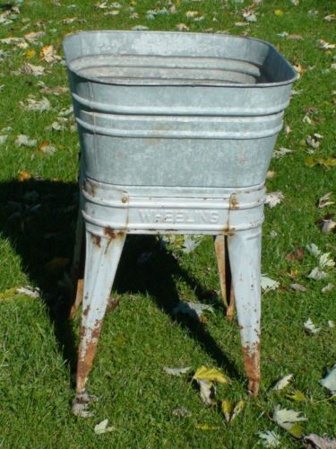 Wash Tub With Stand : ... Wash Tub on Stand Good Condition will make great bathroom sink