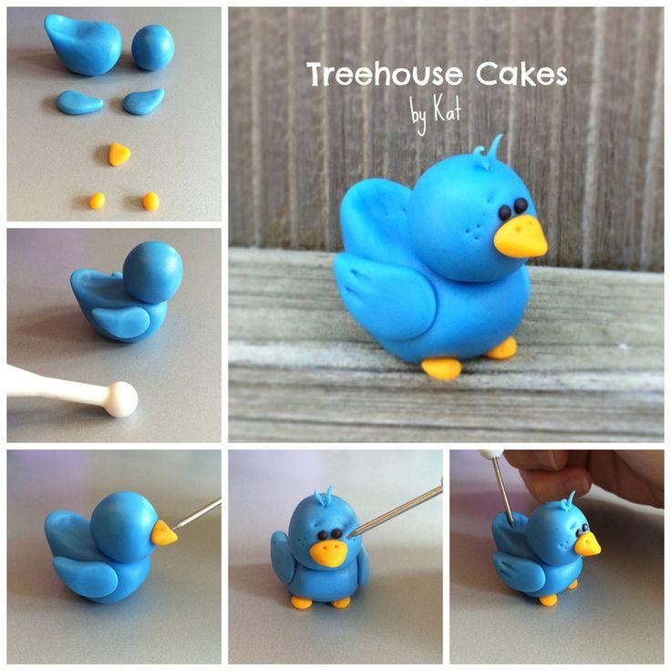 Как из пластилина сделать птичек 519