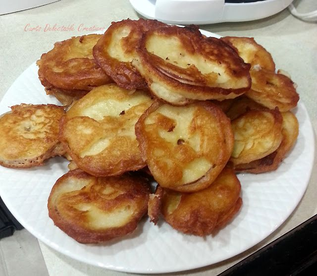 Fried Apple Pancake Fritters ~ Quick and Easy!