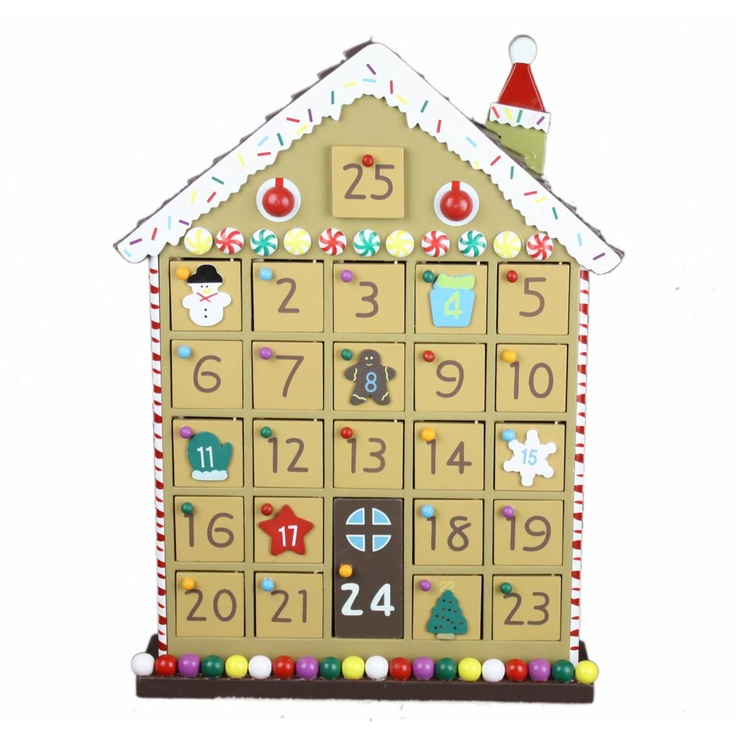 Wooden Gingerbread House Advent Calendar Stuff To Try