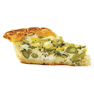 Roasted Asparagus and Goat Cheese Quiche | Recipe