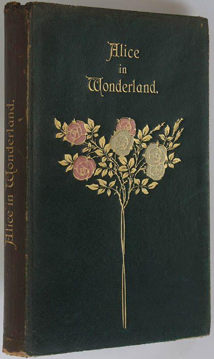Pretty Book Covers ~ Alice in wonderland book shelf pinterest
