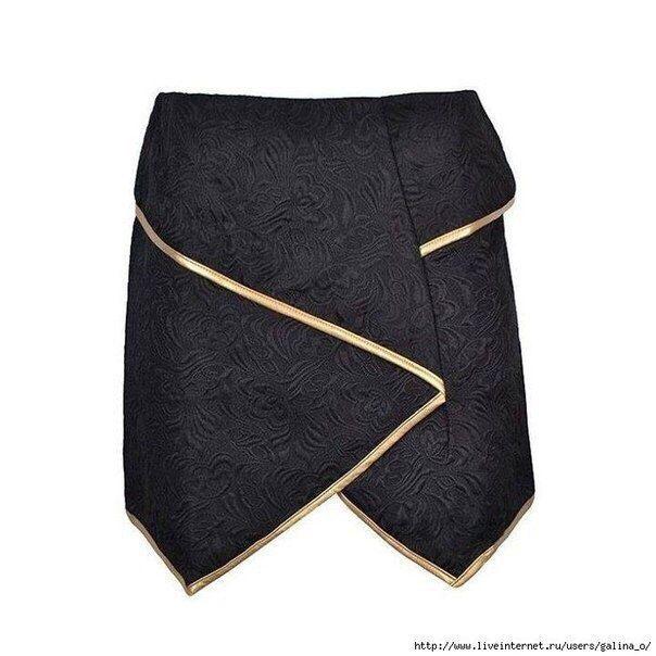 Выкройка нестандартной юбки