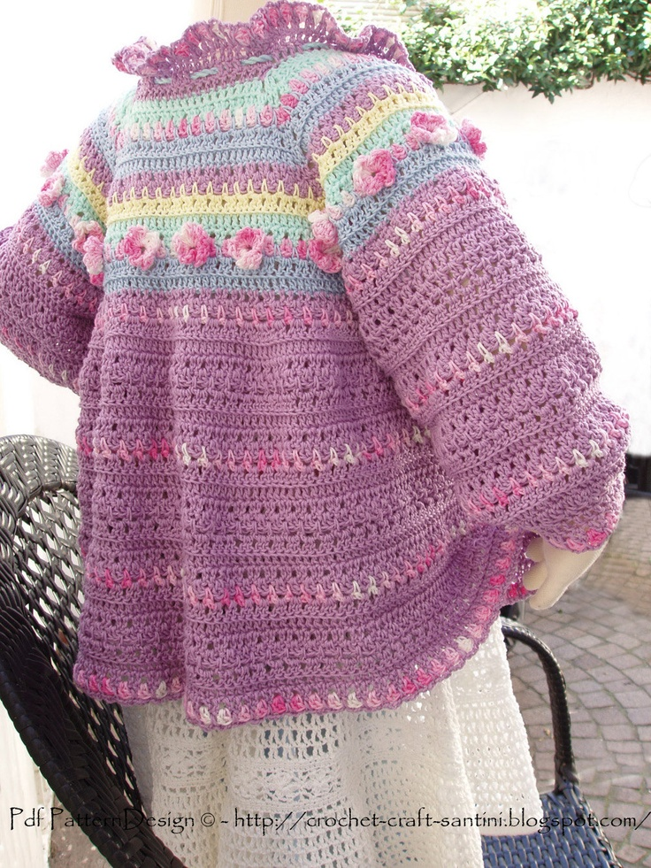 Romantic Summer Cardigan - Crochet Pattern with Flowers ...