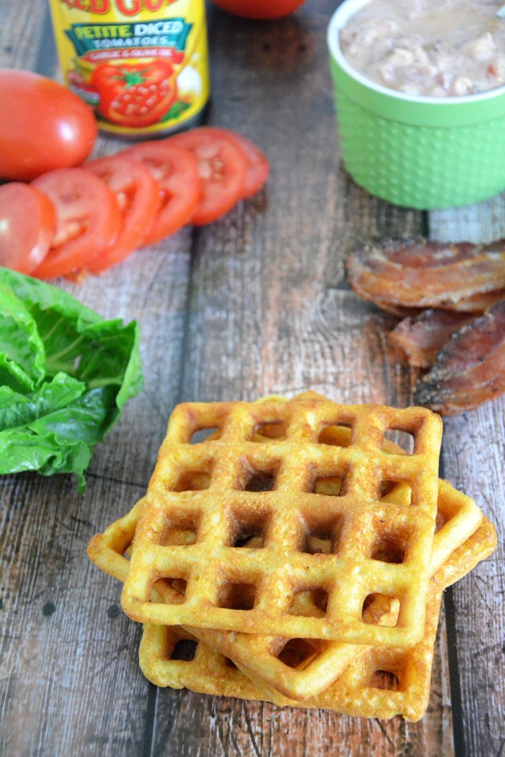 Cornbread Waffle BLT's with Garlic Aioli - The Housewife in Training ...