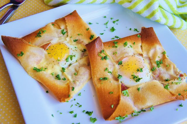 The Kitchen Life of a Navy Wife: Ham and Egg Crepe Squares