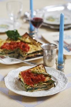 Tortino dAzzima (Matzo Pie) (Meat or Parve) -