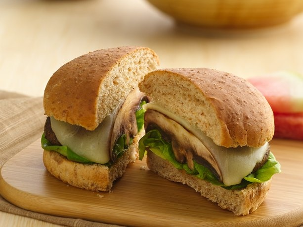 Portabella Mushroom Burgers - plan to make without the cheese, add ...