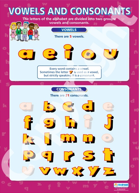 Vowels and Consonants | Younger age English | Pinterest