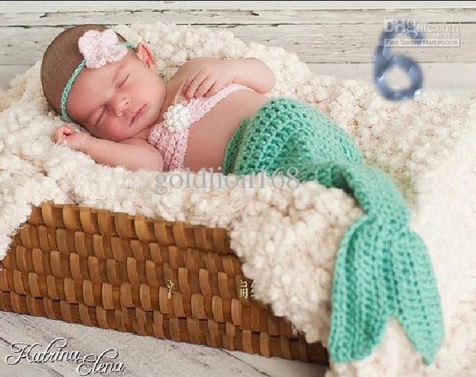 Baby Crochet mermaid tail handmade Photography accessories / props ...