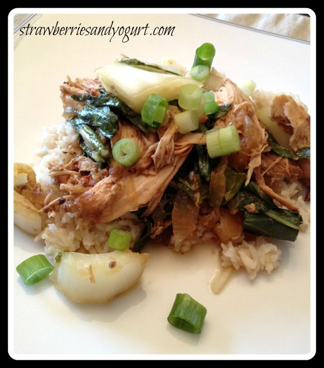 chicken adobo with bok choy | Strawberries and Yogurt - recipes | Pin ...