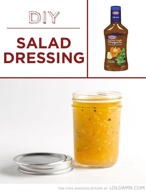 Easy recipes: DIY Salad Dressing | Life hacks | Pinterest