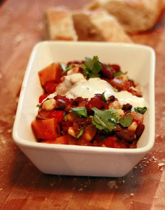 Sweet, Sour w/ a Kick - Sweet Potato Chili