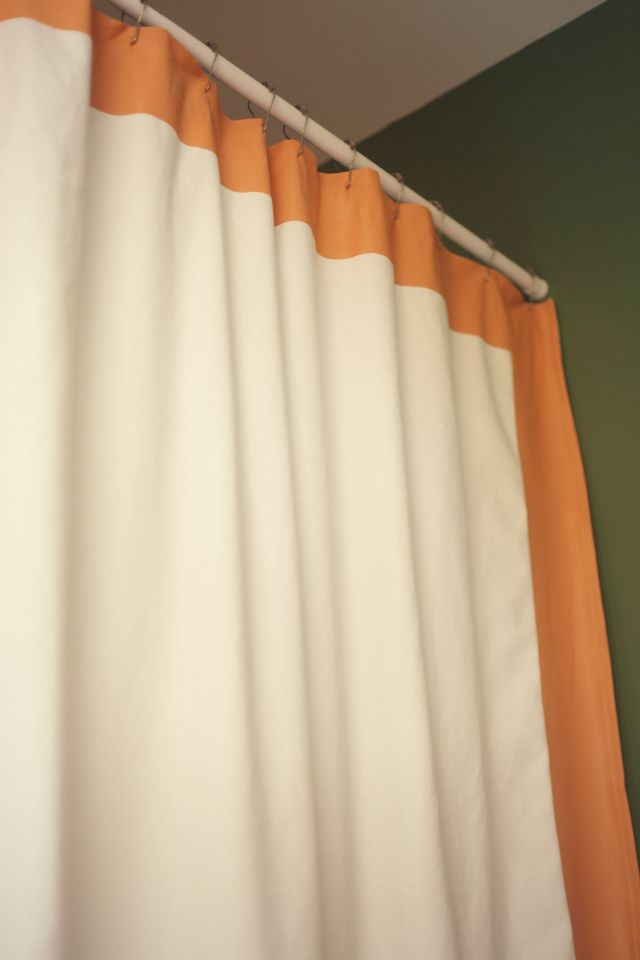 Teal And Beige Curtains