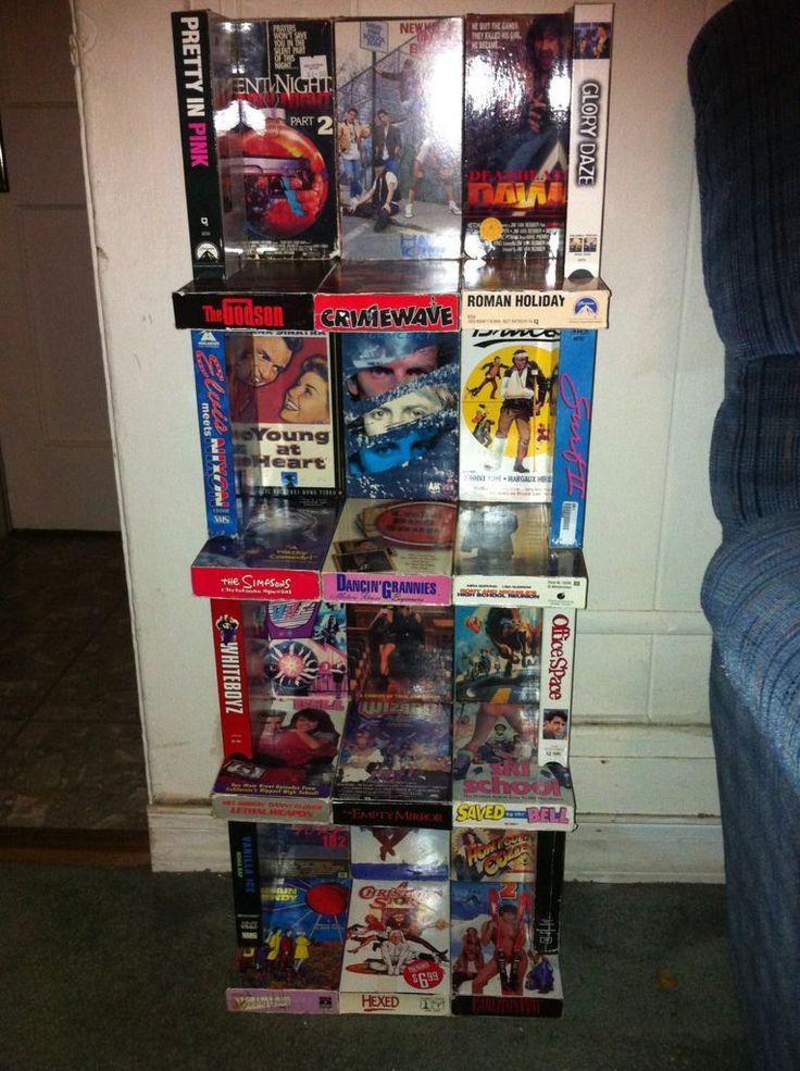 vhs shelf video tapes pinterest. Black Bedroom Furniture Sets. Home Design Ideas