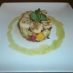 Seared Scallops with Tropical Salsa Allrecipes.com