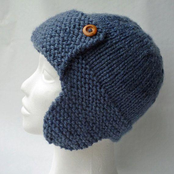 Knitting Pattern Aviator Hat : Knitting Pattern Aviator Hat CORY Child to Adult sizes