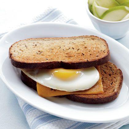Sharp Cheddar & Egg on Rye   Recipe