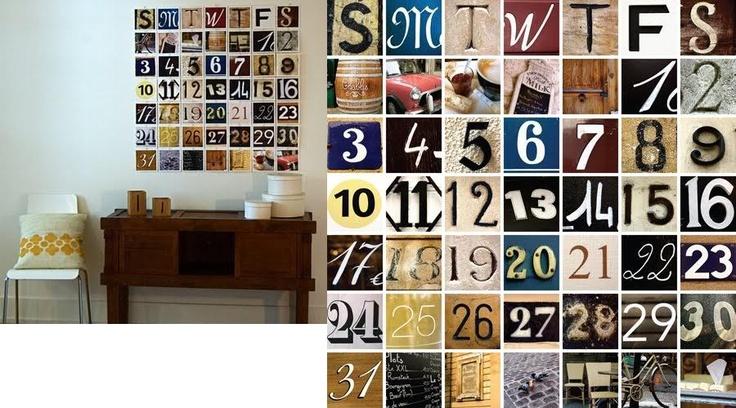 736 x 408 jpeg 155kB, Huge wall calander LOVE | Ideas to make and do ...