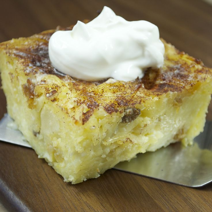 Use Your Noodle...kugel, a sweet noodle pudding