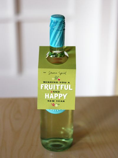 Free printable wine tags from How About Orange