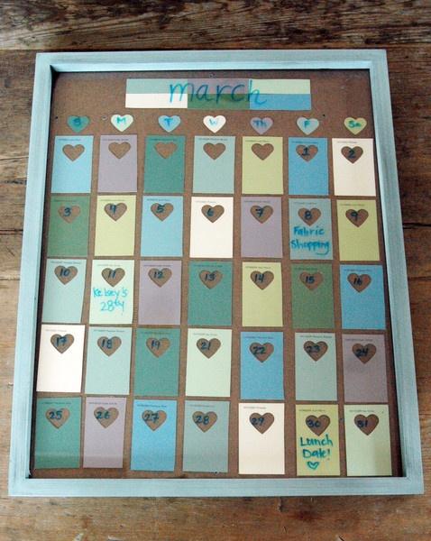 Diy Calendar Paint Chips : Diy paint chip calendar doin it myself pinterest