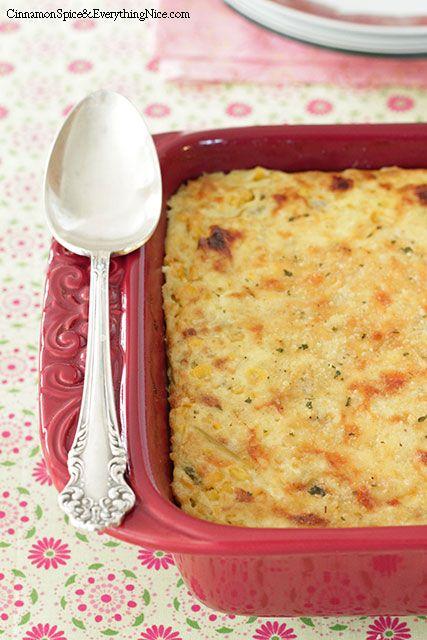 Cheddar and Green Chile Corn Pudding   Recipe