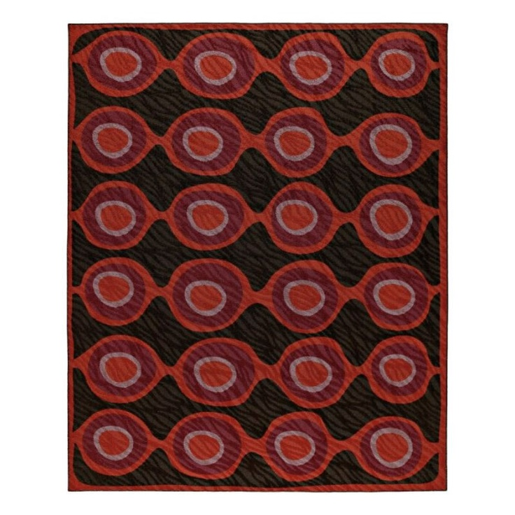 Angela adams freddy rug in chocolate Angela adams rugs