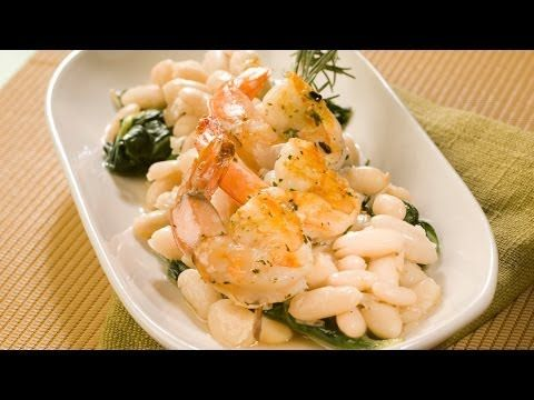 Grilled Shrimp with Rosemary White Beans | CULINARY SKILLS | Pinterest