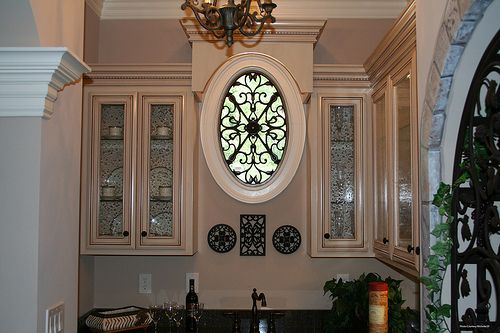 Faux wrought iron oval window treatment kilkenny ideas for Oval window treatment ideas
