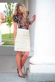 Morning by Morning Productions: Lace Pencil Skirt Tutorial