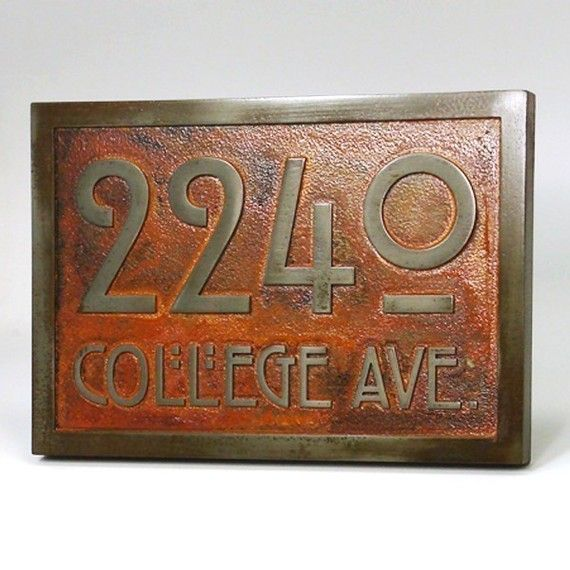 stickley address plaque home numbers bungalow sign with. Black Bedroom Furniture Sets. Home Design Ideas