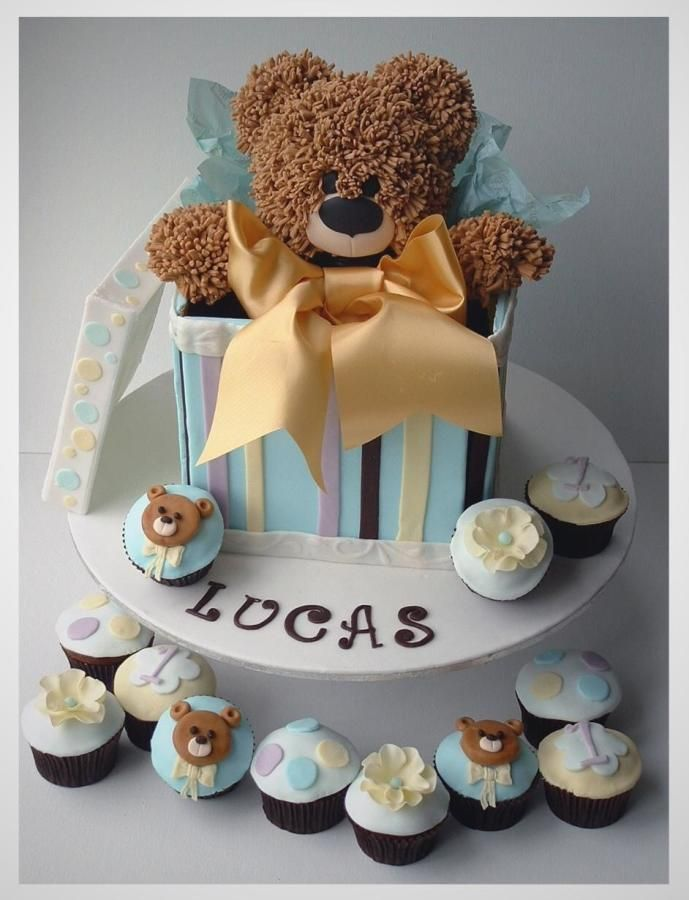 Cake Design Teddy Bear : Teddy Bear Cake inspirac?es Pinterest