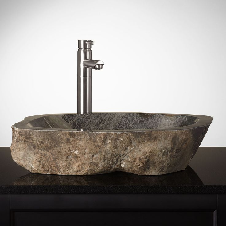 ... Cobble Stone Vessel Sink Unique Stone Vessel Sinks - Bat
