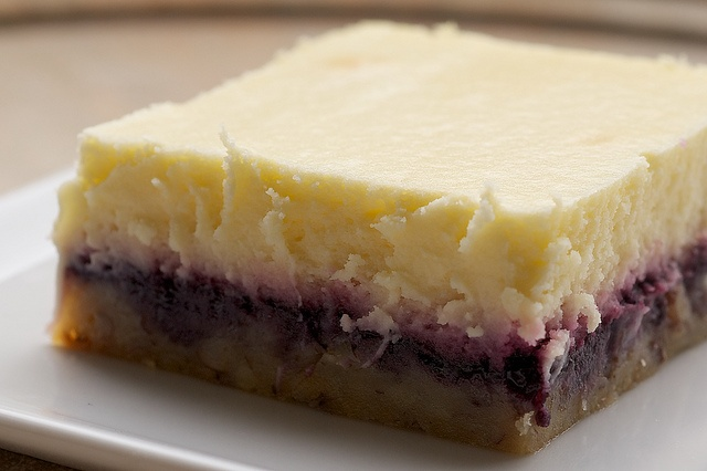 Lemon Blueberry Cheesecake Bars by bakeorbreak, via Flickr
